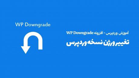 تغییر ورژن وردپرس - افزونه WP Downgrade